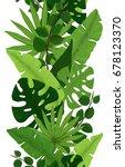 seamless border of green... | Shutterstock .eps vector #678123370