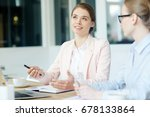 young manager brainstorming and ... | Shutterstock . vector #678133864