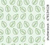 leaf seamless pattern | Shutterstock .eps vector #678134128