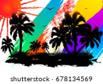 abstract watercolor design of a ... | Shutterstock .eps vector #678134569