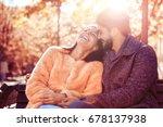 romantic couple.loving couple... | Shutterstock . vector #678137938