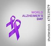 purple ribbon  alzheimer's... | Shutterstock . vector #678139879