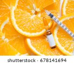 high dose vitamin c brown... | Shutterstock . vector #678141694
