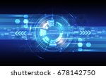 abstract technology  background ... | Shutterstock .eps vector #678142750