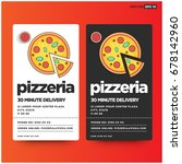 pizzeria 30 minute delivery...   Shutterstock .eps vector #678142960