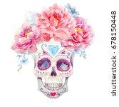 watercolor print mexican... | Shutterstock . vector #678150448