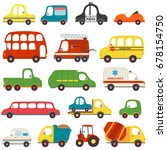 set of isolated transports   ... | Shutterstock .eps vector #678154750