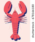 lobster vector illustration | Shutterstock .eps vector #678166180