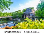 old mill in pigeon forge  ... | Shutterstock . vector #678166813