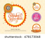 sale poster or sale banner for... | Shutterstock .eps vector #678173068