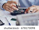 the technician programmer... | Shutterstock . vector #678173098