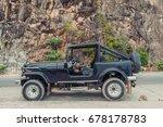 vintage handmade 4x4 off road... | Shutterstock . vector #678178783
