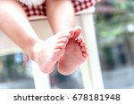 small feet with beautiful...   Shutterstock . vector #678181948
