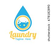 laundry icon with text space... | Shutterstock .eps vector #678182890