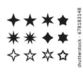 set star   vector icon star set ... | Shutterstock .eps vector #678183148