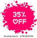 heart shaped 35  off label... | Shutterstock .eps vector #678183934