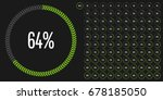 set of circle percentage... | Shutterstock .eps vector #678185050