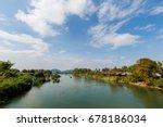 concrete french bridge... | Shutterstock . vector #678186034