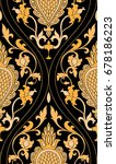 pattern with damask. yellow... | Shutterstock .eps vector #678186223