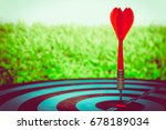 target hit in the center by... | Shutterstock . vector #678189034