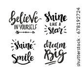 hand drawn motivation phrases... | Shutterstock .eps vector #678192724