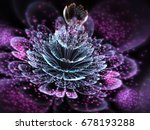 dark purple fractal flower with ... | Shutterstock . vector #678193288