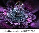 Dark Purple Fractal Flower Wit...