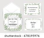 wedding invitation flower card... | Shutterstock .eps vector #678195976