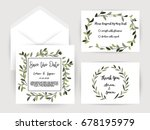 wedding invitation flower card... | Shutterstock .eps vector #678195979