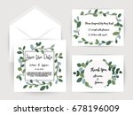 wedding invitation flower card... | Shutterstock .eps vector #678196009