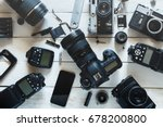 vintage film camera  digital... | Shutterstock . vector #678200800