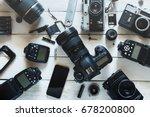 vintage film camera  digital... | Shutterstock . vector #678200800