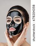 woman beauty face skin mask.... | Shutterstock . vector #678204358
