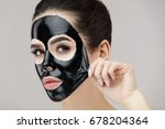 woman face mask. portrait of... | Shutterstock . vector #678204364