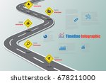 business road map timeline... | Shutterstock .eps vector #678211000