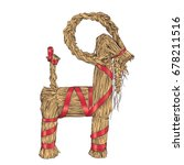 vector hand drawn yule goat or... | Shutterstock .eps vector #678211516