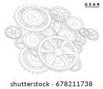 vector abstract futuristic  3d... | Shutterstock .eps vector #678211738