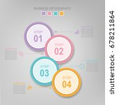 infographic template of... | Shutterstock .eps vector #678211864
