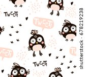 seamless pattern with cartoon... | Shutterstock .eps vector #678219238