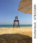 Small photo of Lifeguard seat at the sun Ain Sokhna, Egypt