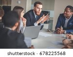 business people analyzing... | Shutterstock . vector #678225568