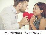 couple lover in love holding... | Shutterstock . vector #678226870