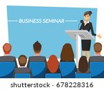 business seminar  vector... | Shutterstock .eps vector #678228316