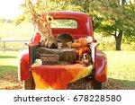 Halloween Fall Truck Scene