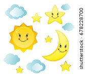 the sun  the moon  the star ... | Shutterstock . vector #678228700