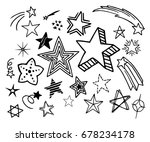 stars of different shapes and... | Shutterstock .eps vector #678234178