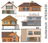 city life. vector illustration... | Shutterstock .eps vector #678236230