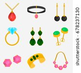 jewelry color flat icons set... | Shutterstock .eps vector #678237130