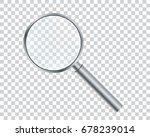 metal magnifier on a... | Shutterstock .eps vector #678239014
