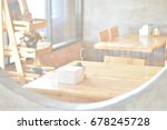 double exposure of room with... | Shutterstock . vector #678245728